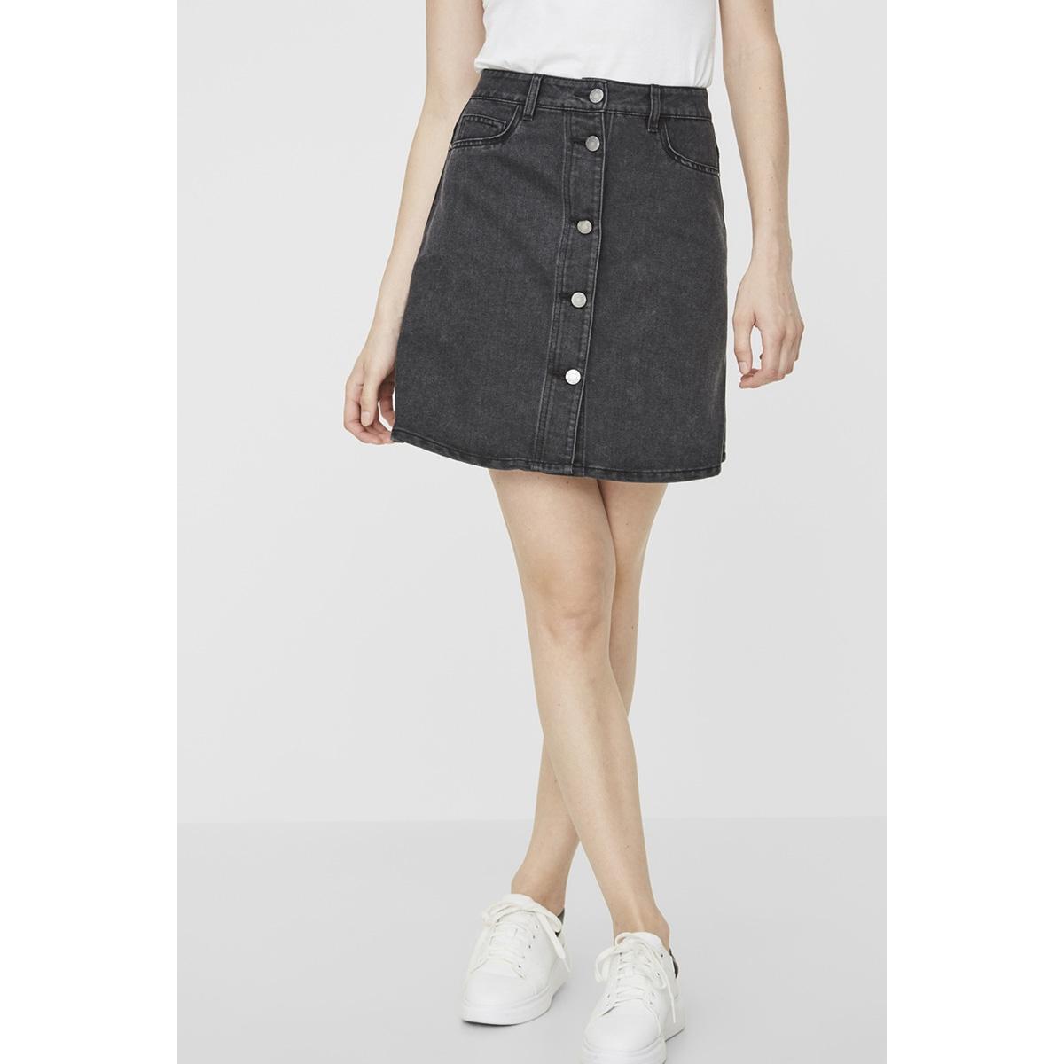 nmsunny short dnm skater skirt blck 27000430 noisy may rok black