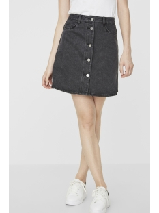 nmsunny short dnm skater skirt blck 27000430 noisy may rok black