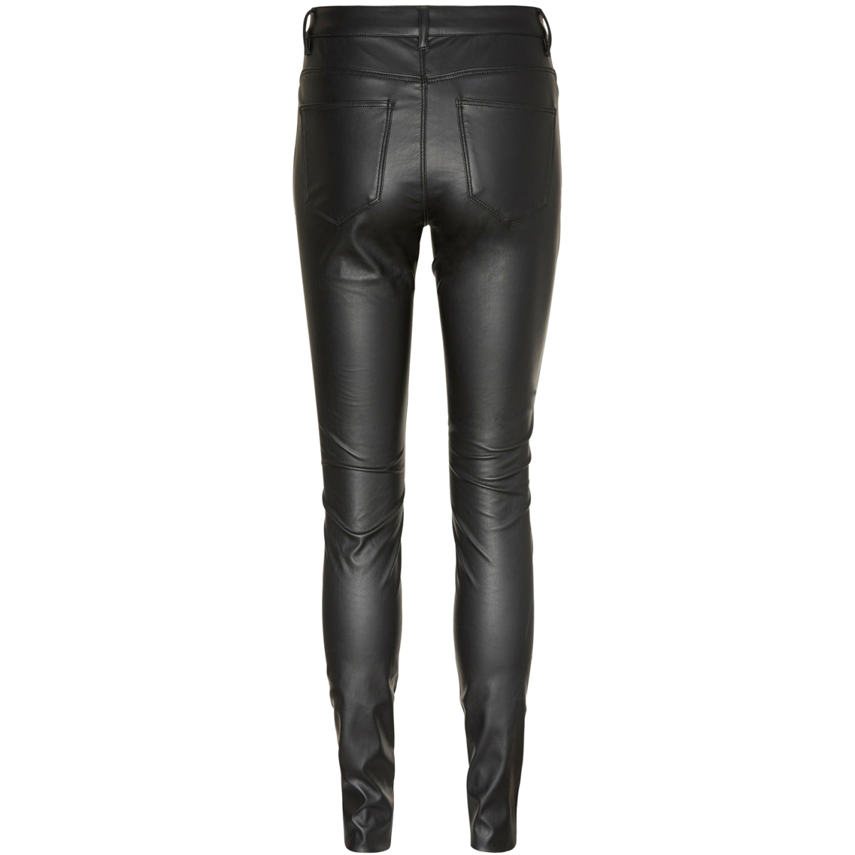 vmseven nw pu pants 10183640 vero moda broek black
