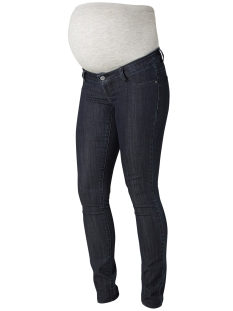 Mama-Licious Positie broek MLJULIA UNW DARK BLUE SLIM JEANS 20006343 Dark Blue Denim