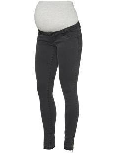 Mama-Licious Positie broek MLUNITA SLIM BLACK ZIP JEANS 20007779 Black Denim