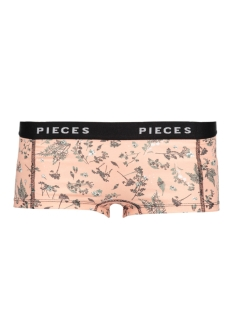 pclogo lady boxers 14-223 floral 17086474 pieces ondergoed black/comb a
