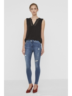 vmseven nw super slim jeans ba308 10193709 vero moda jeans medium blue denim
