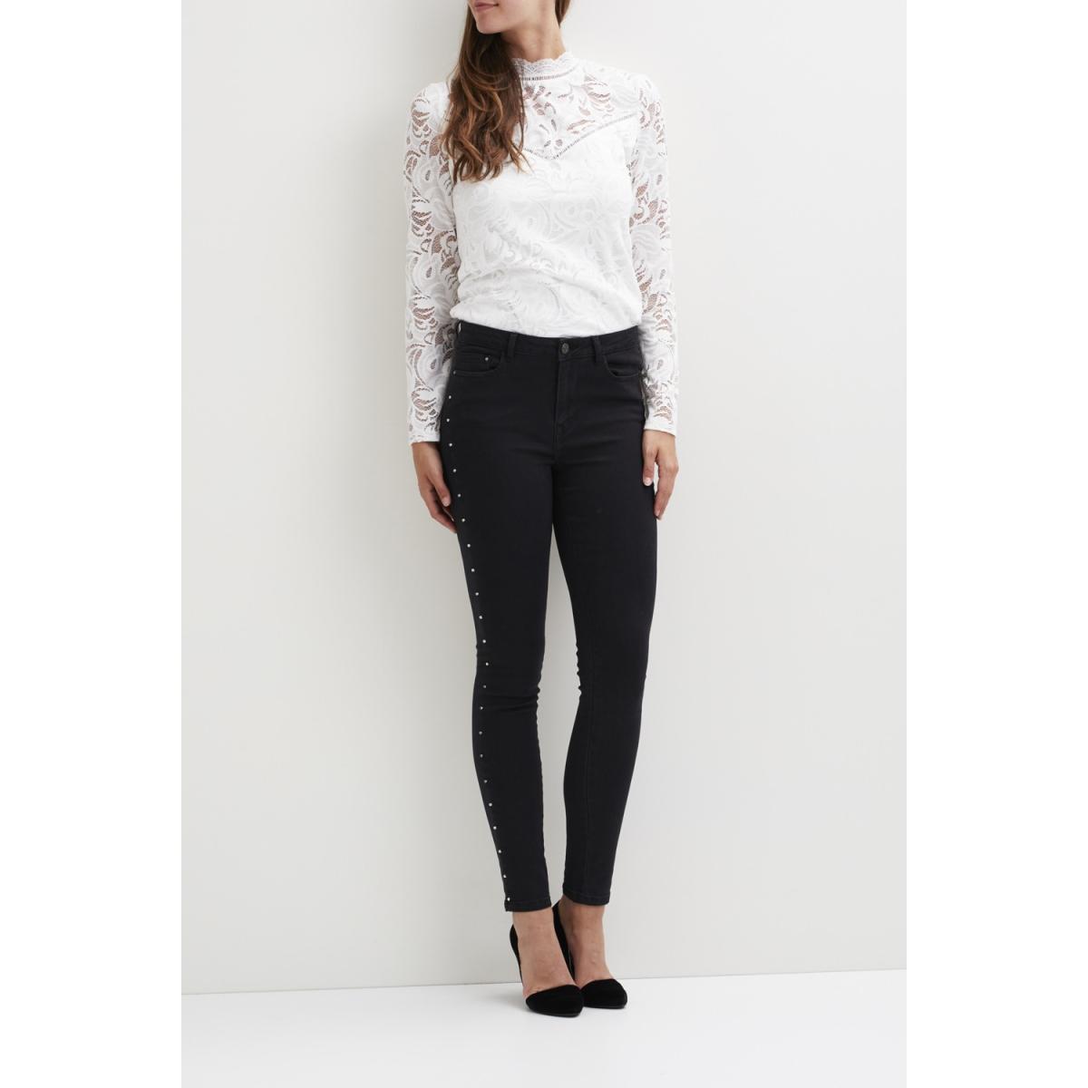 vijunas rw stud jeans 14043744 vila jeans black