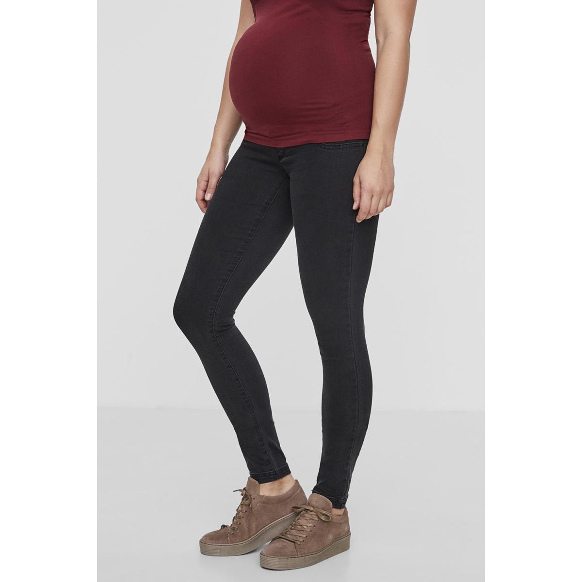 mlella skinny dark grey jeans 20006708 mama-licious positie broek dark grey denim
