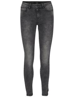 vmseven nw sl.uneven hem ankle jean 10188058 vero moda jeans dark grey melange