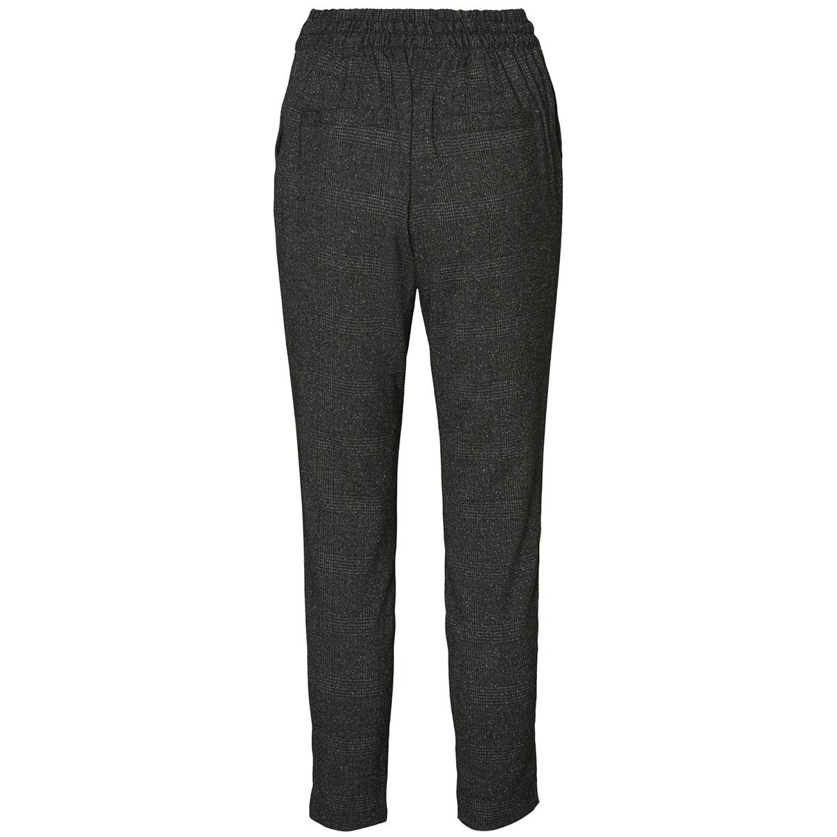 vmrory nw checked loose pant 10188532 vero moda broek dark grey/grey check
