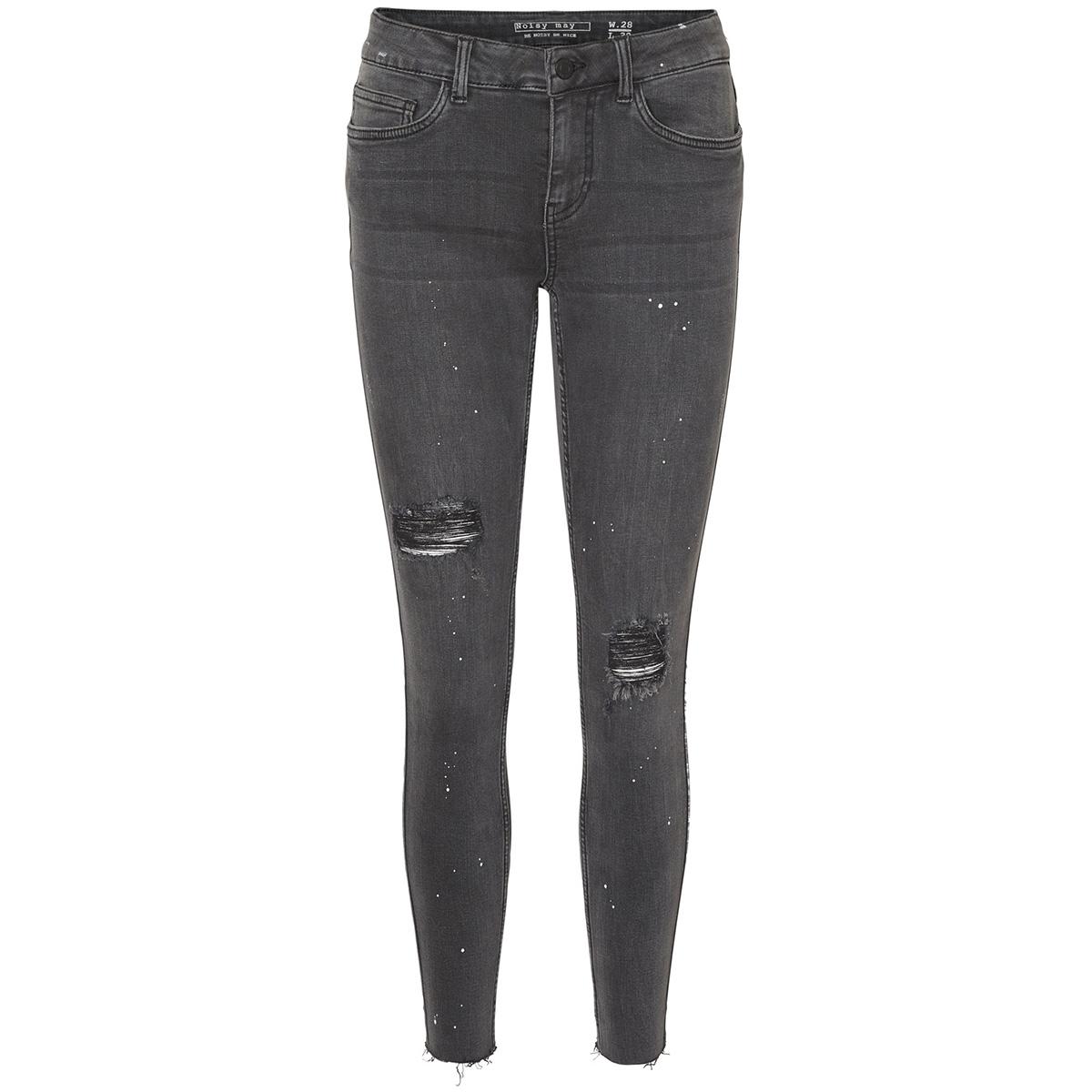 nmlucy nw s.s paint splash jeans 8 27000902 noisy may jeans dark grey denim