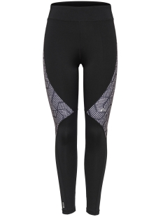 Only Play Sport broek onpMENTA AOP TRAINING TIGHTS 15139067 Black/ White