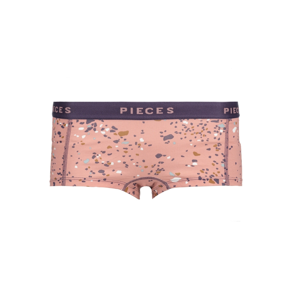 pclogo lady boxers 14-224 glam 17086475 pieces ondergoed ash rose/comb b