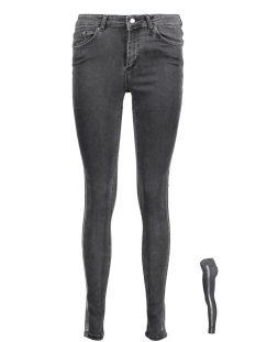 Pieces Jeans PCFIVE DELLY DELUX MW SKN JNS DG 17086235 Dark Grey Denim