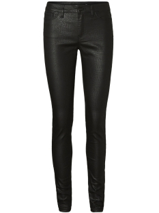 Vero Moda Broek VMSEVEN MR CROC COATED PANTS 10198336 Black