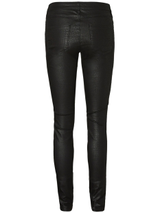 vmseven mr croc coated pants 10198336 vero moda broek black