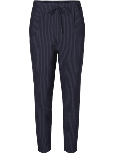 Noisy may Broek NMPOWER NW PINSTRIPE  PANTS NOOS 27002788 Night Sky/WHITE