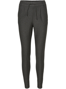 Noisy may Broek NMPOWER NW PINSTRIPE  PANTS NOOS 27002788 Dark Grey Melan/WHITE
