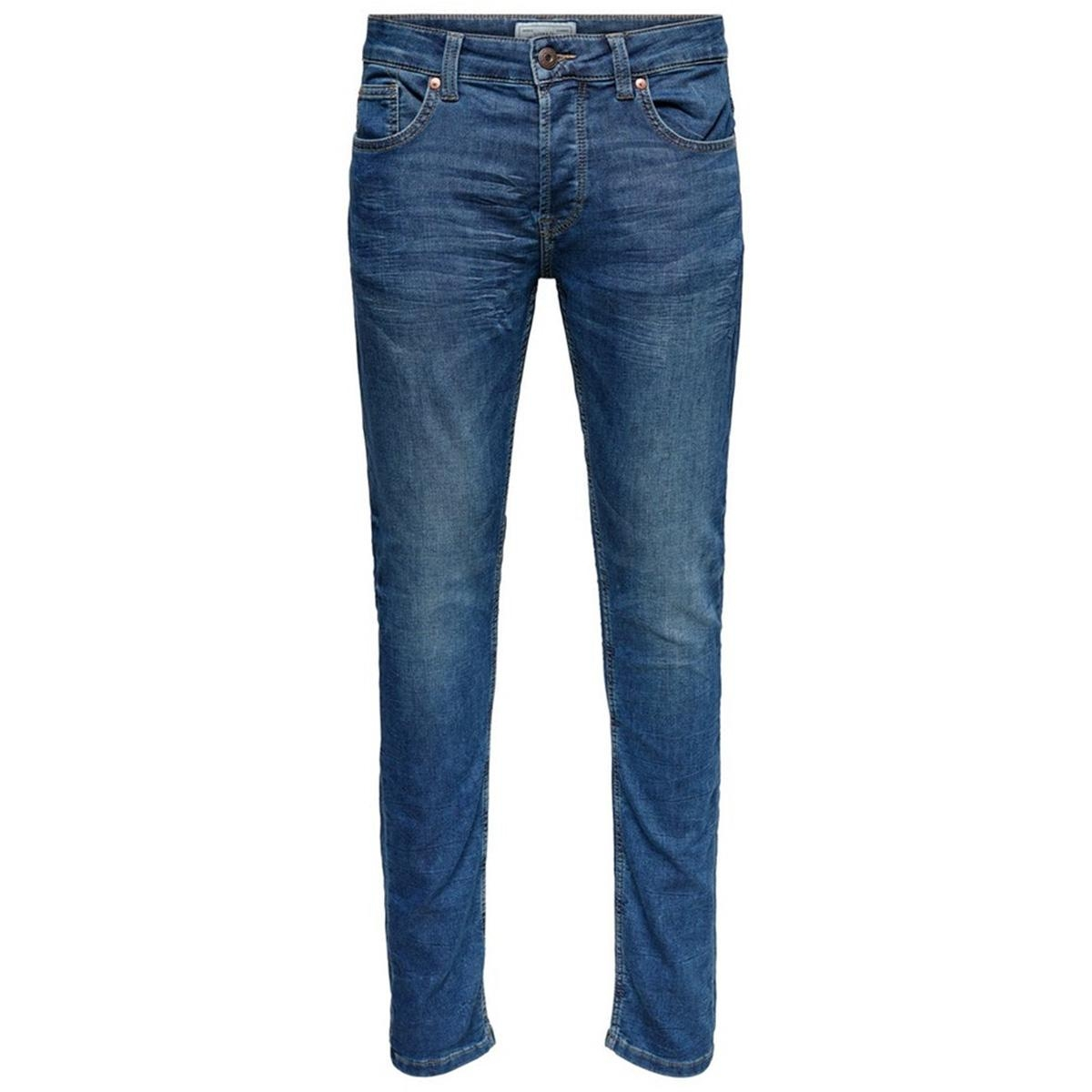 onsloom blue jog pk 8472 noos 22008472 only & sons jeans blue denim