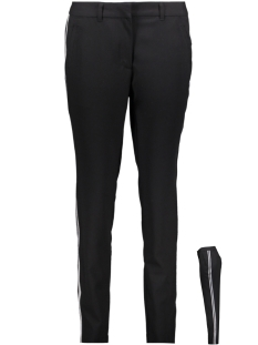 Vero Moda Broek VMVICTORIA NW ANTIFIT SHINY TAPE PANTS 10192149 Black/SILVER AND