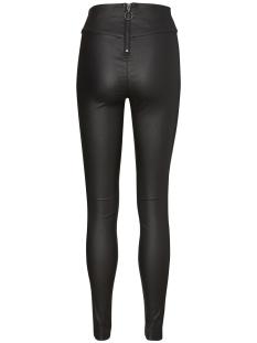 vmsupreme hw super slim coated pant 10192084 vero moda broek black