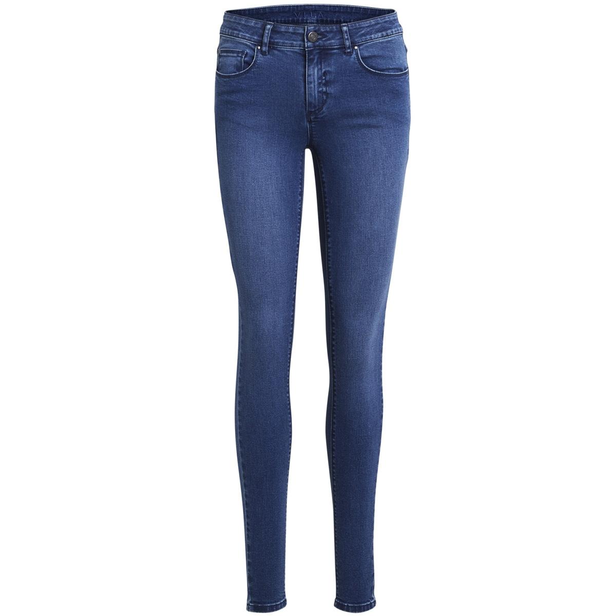 vicommit rw slim mbd-noos 14042595 vila jeans medium blue denim