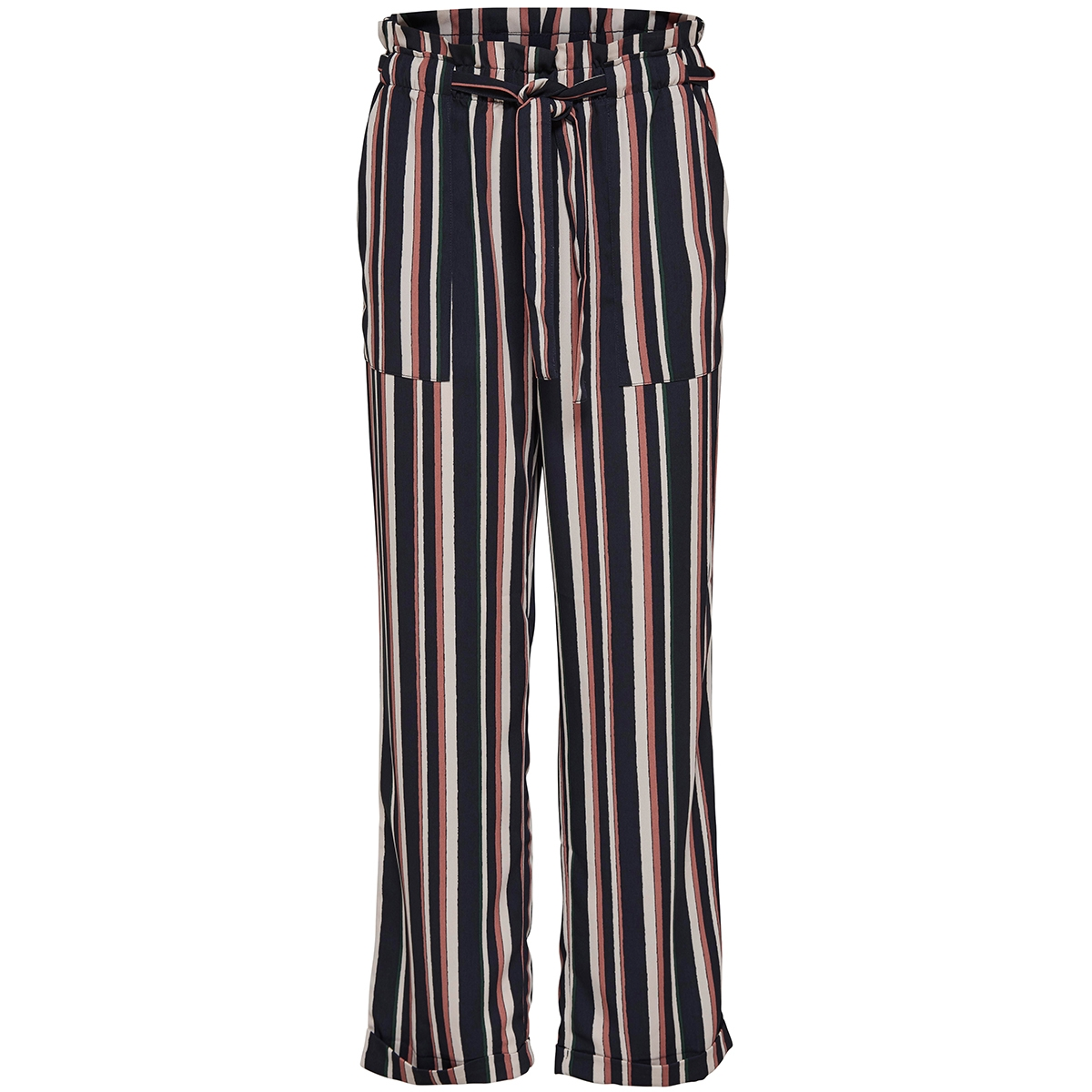 jdyanneline belt pant pnt 15147765 jacqueline de yong broek burlwood stripes/mona