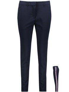 vmvictoria nw antifit shiny tape pants 10192149 vero moda broek night sky/rose shadow
