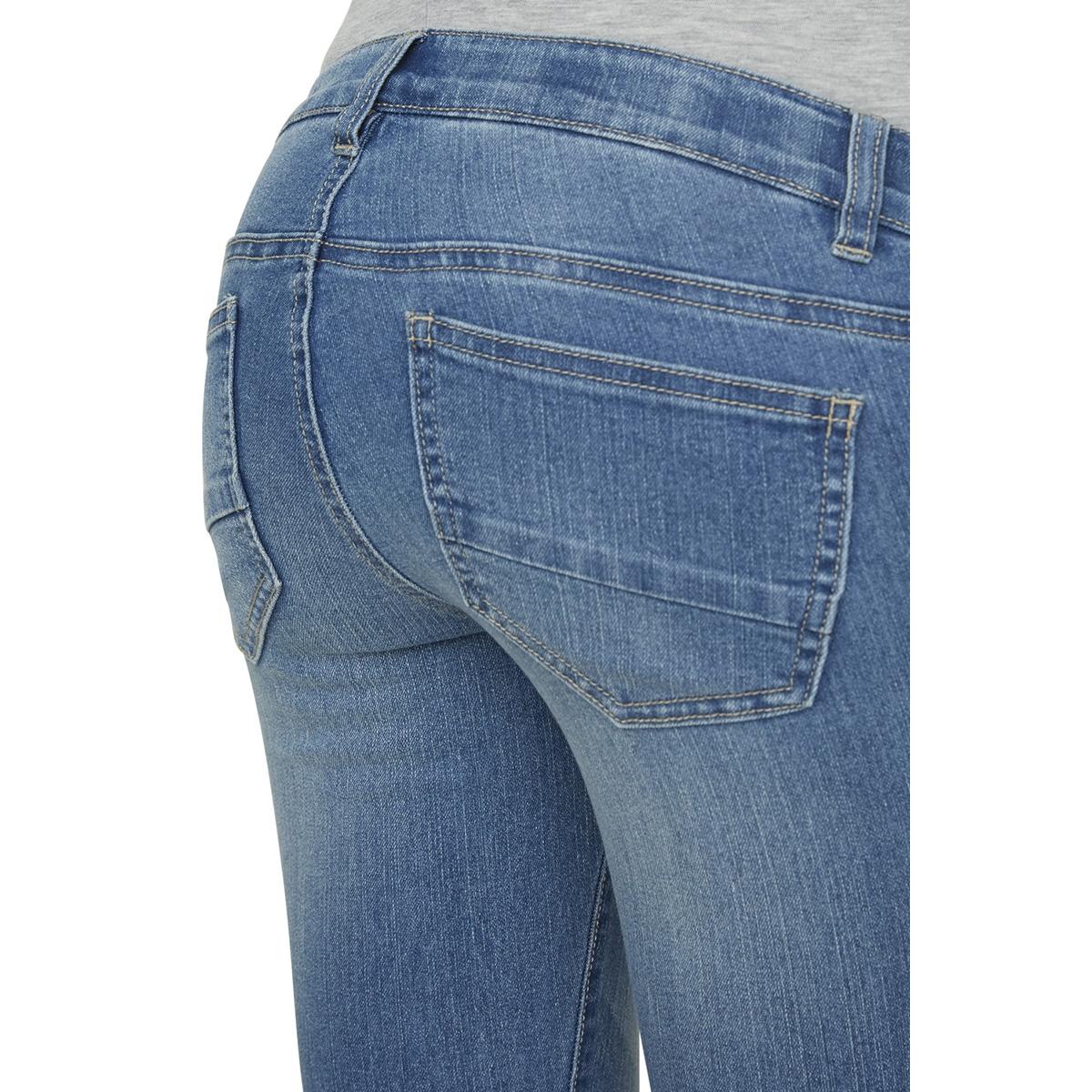 mlriga slim 7/8 zip jeans  20008068 mama-licious positie broek light blue denim