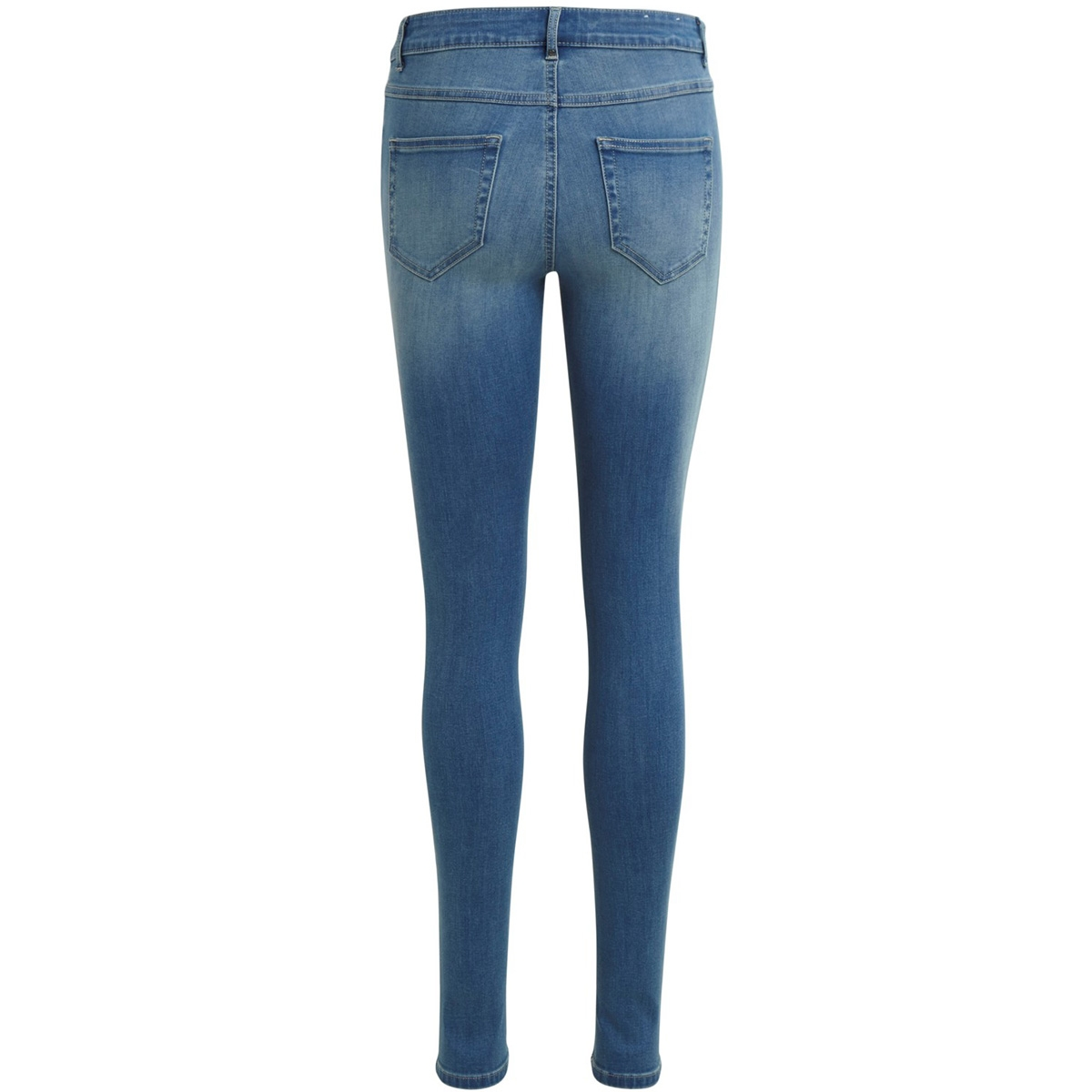 vicommit rw slim hy2545 mb - noos 14038996 vila jeans medium blue denim