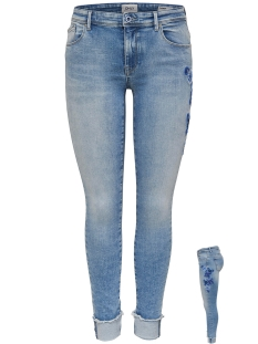 Only Jeans onlCARMEN REG SK AK FU EMB DNM REA1 15152137 Light Blue denim