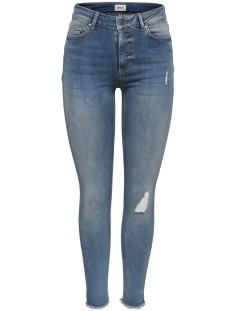 Only Jeans onlBLUSH MID SK ANK RAW JEANS REA33 15151895 Light Blue Denim