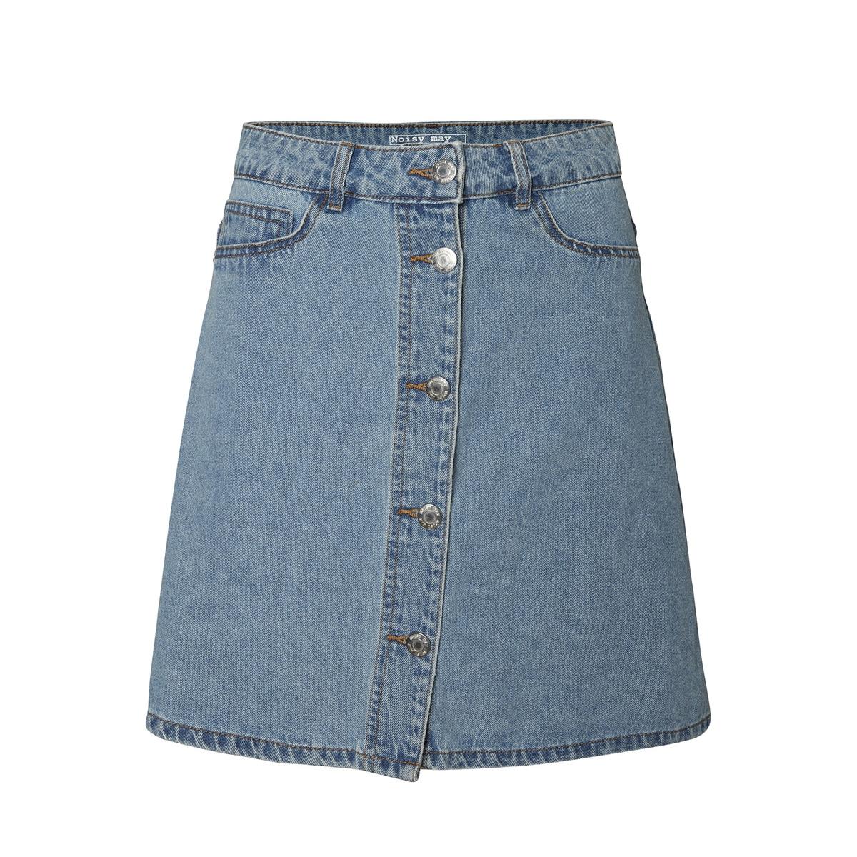nmsunny shortdnm skater skirt gu124 noos 27001259 noisy may rok light blue denim
