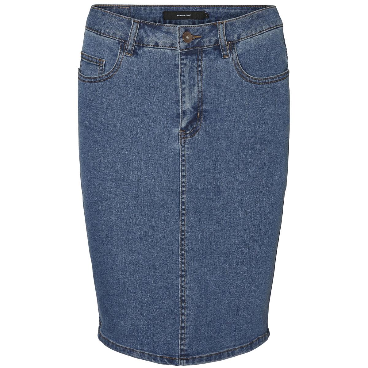 vmhot nine hw dnm pencil skirt mix noos 10193076 vero moda rok medium blue denim