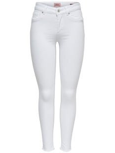 Only Jeans onlBLUSH MID SK ANK RAW REA0730NOOS 15155438 White