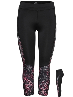 Only Play Sport broek onpCONFETTI AOP RUN 3/4 TIGHTS 15150086 Black/W/FRUIT D