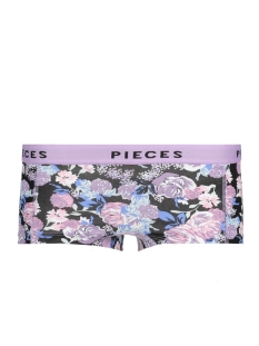 Pieces Ondergoed PCLOGO LADY BOXERS14-236 FLORAL 17090017 Black/COMB A
