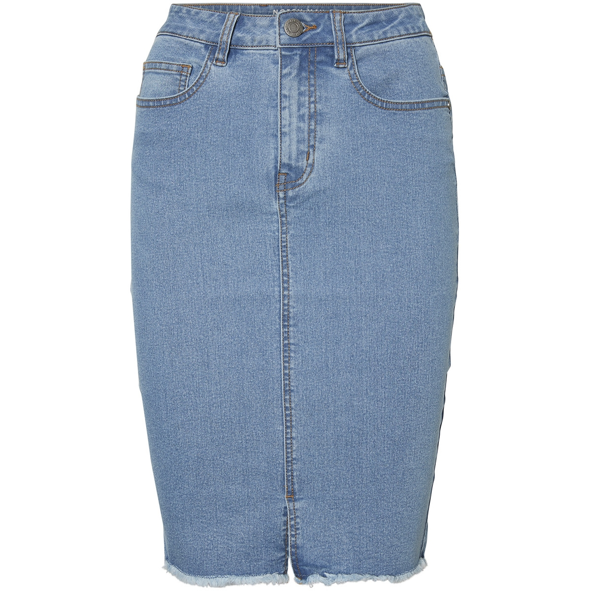 nmbe lexi hw mb pencil denim skirt 27002616 noisy may rok medium blue denim