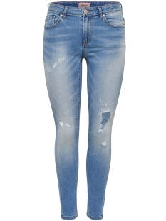 Only Jeans onlCARMEN REG SK ANK DNM CRYS3 15155414 Light Blue Denim