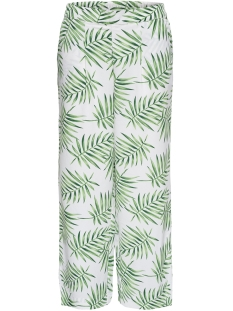Jacqueline de Yong Broek JDYCARLA PANT WVN 15152452 Cloud Dancer/GREEN LEAF