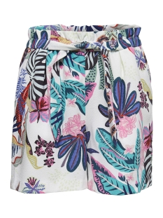 Only Korte broek onlPIPER PAPERBAG AOP SHORTS TLR 15155191 Bright White/ TROPICAL