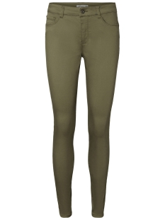 Vero Moda Broek VMSEVEN MR SLIM COLOR PUSH UP PANT 10199266 Ivy Green