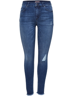 onlblush mid ank raw jeans rea2077 15159306 only jeans medium blue denim