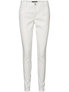 Vero Moda Broek VMHOT SEVEN NW SLIM PUSH UP PANTS T 10199624 Snow White