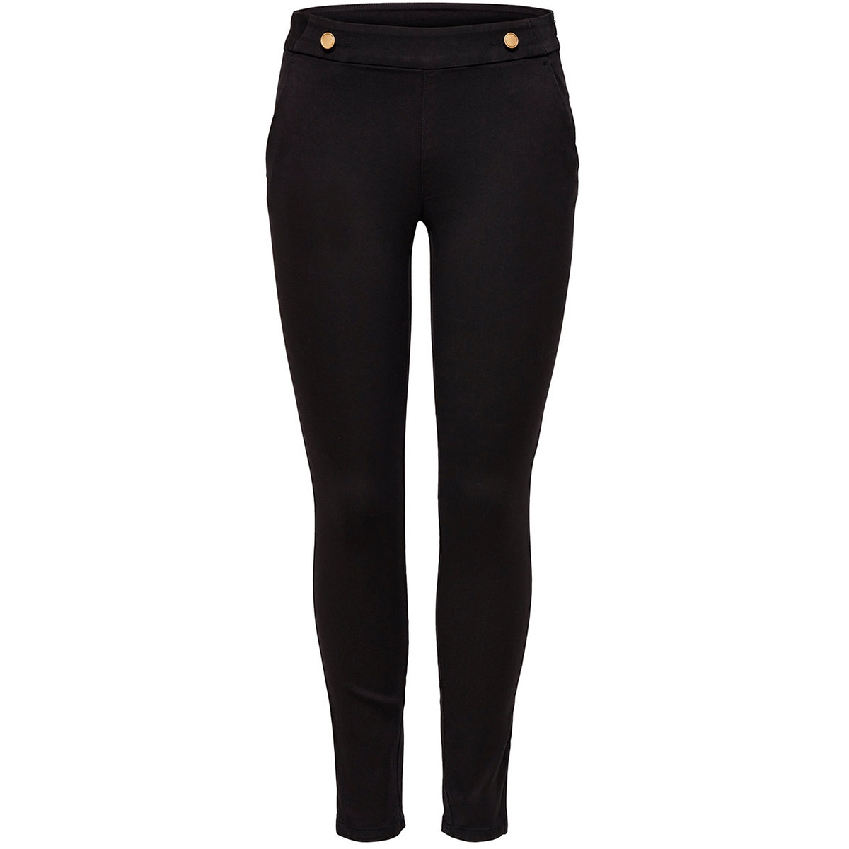 jdytara button pant pnt 15147480 jacqueline de yong broek black/gold trim