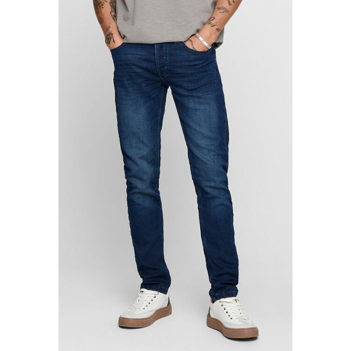 onsloom jog dk blue pk 0431 noos 22010431 only & sons jeans blue denim