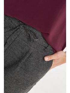 onlpoptrash soft check pant noos 15160890 only broek black/cloud dancer