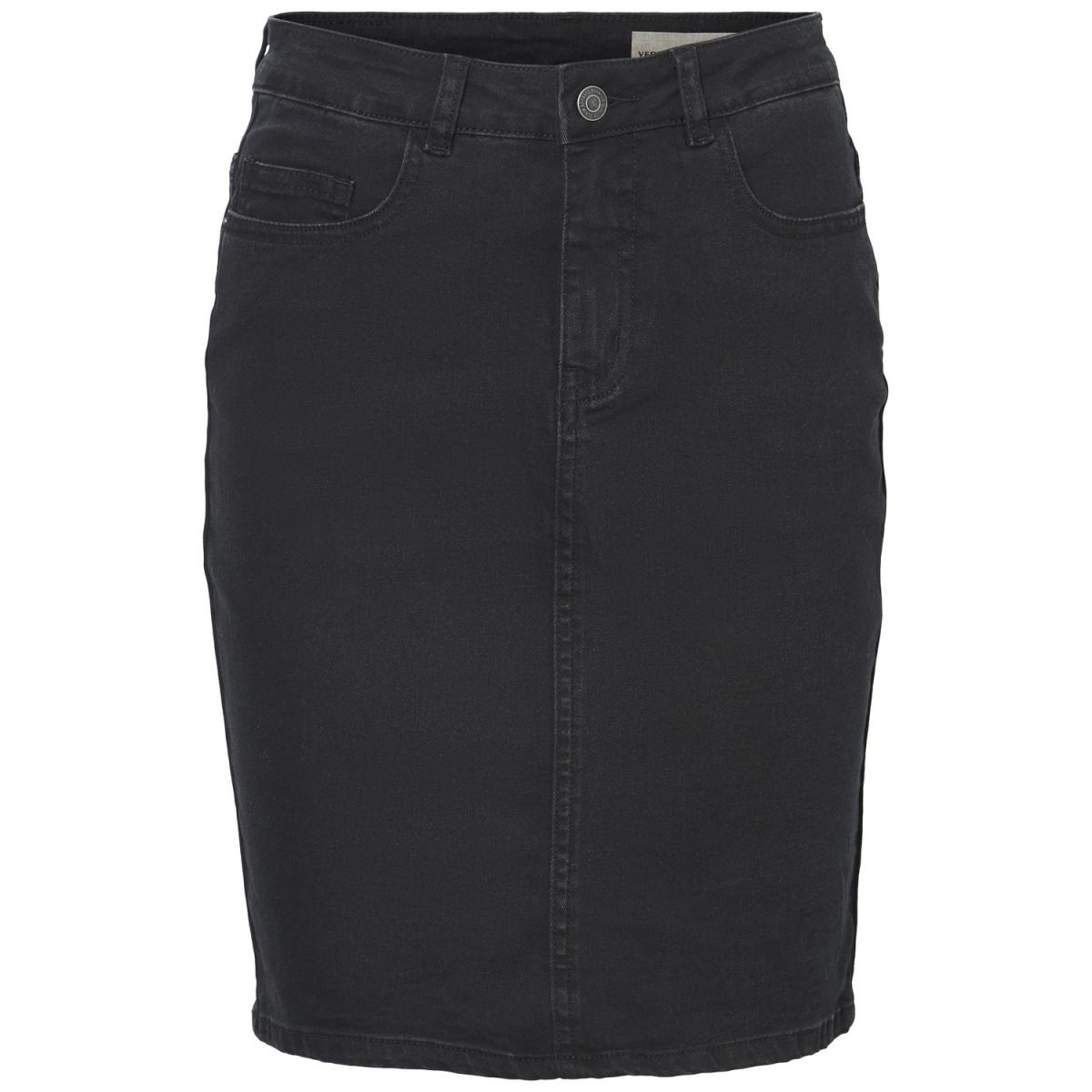 vmhot nine hw dnm pencil skirt mix 10193076 vero moda rok dark grey denim