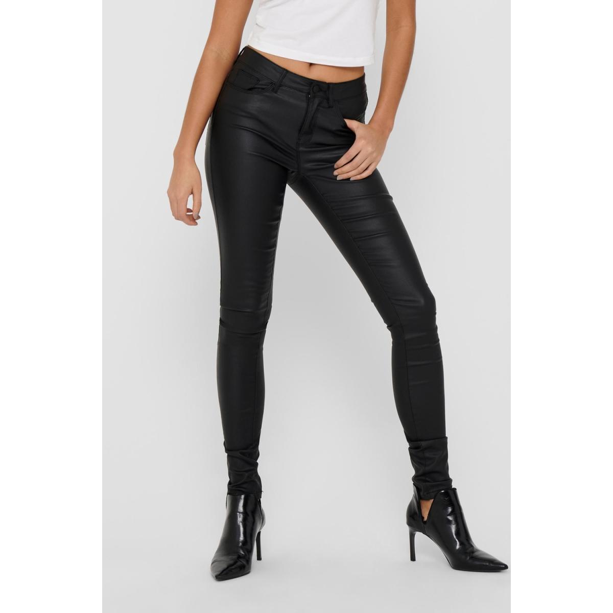 onlanne k mid waist coated jeans noos 15151791 only broek black