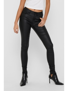 Only Broek onlANNE K MID WAIST COATED JEANS NOOS 15151791 Black