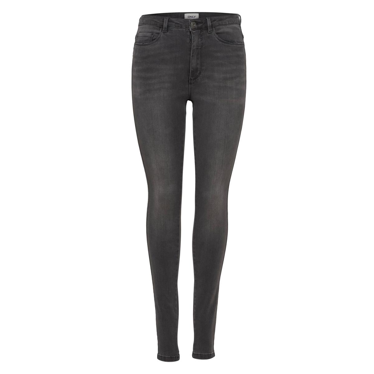 onlroyal high sk dnm jeans  bj312 noos 15159647 only jeans dark grey denim