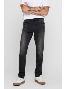 onsloom black washed dcc 0447 noos 22010447 only & sons jeans black denim