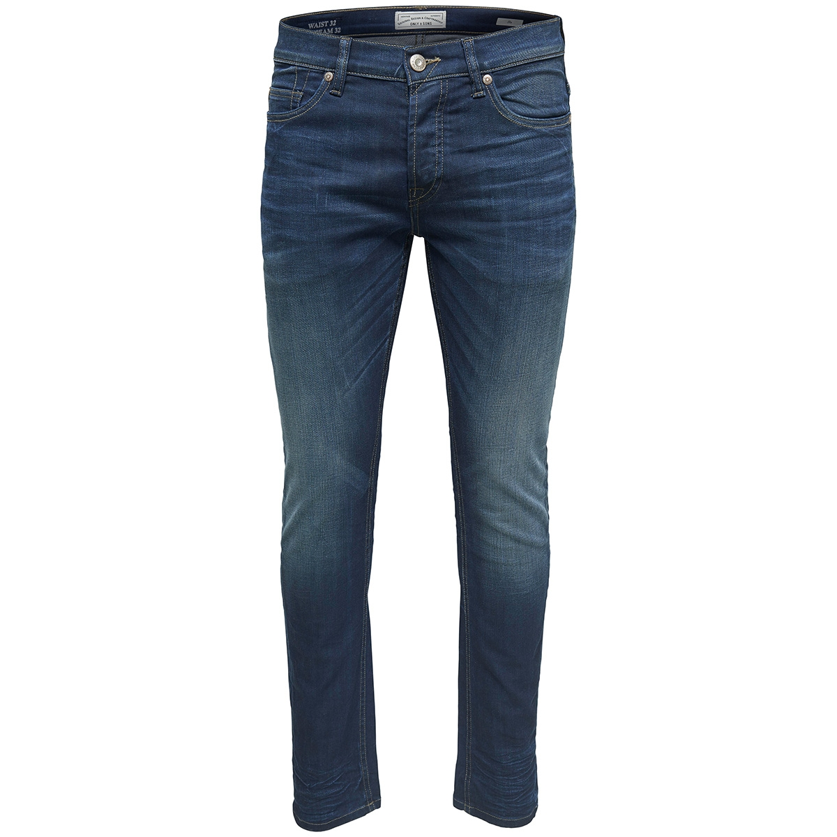 onsloom coa washed dcc 0445 noos 22010445 only & sons jeans blue denim